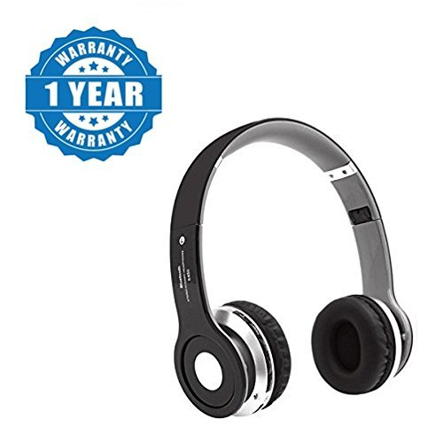 70e72b3c6ad Drumstone Black S450 Foldable On-Ear Wireless Stereo: Amazon.in: Electronics
