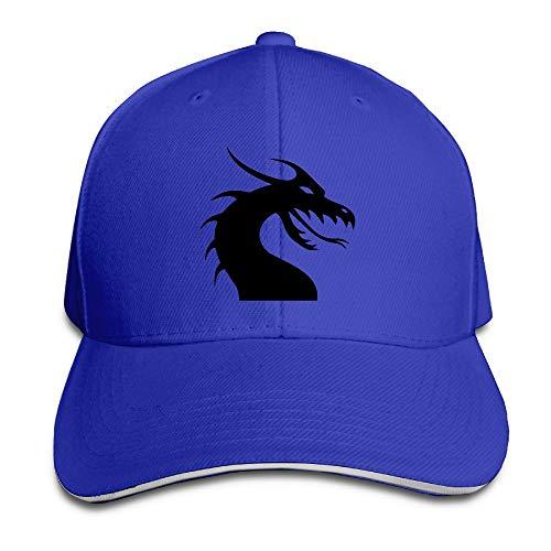 Adult Cool Black Dragon Cotton Lightweight Adjustable Peaked Baseball Cap Sandwich Hat Men Women ()