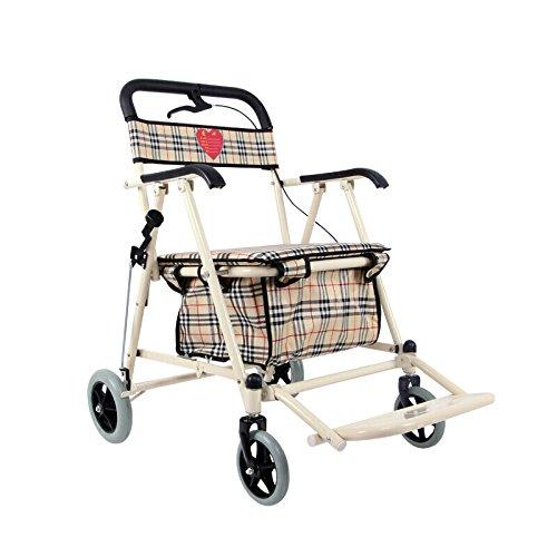 毎日 高齢者ショッピングカート/レクリエーション車/折りたたみ式ウォーカー/ウォーカー/リハビリ機器折り畳み歩行四輪車ショッピングカートホワイトマネーサイズ:60cm * 48cm * 90cm B07F5L68YZ