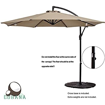 Amazing COBANA 10 Ft Patio Umbrella Offset Hanging Umbrella Outdoor Market Umbrella  Garden Umbrella, 250g/