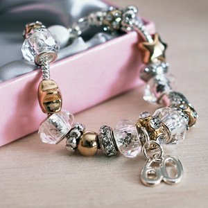 60th Birthday Charm Bracelet Jewellery Gift For Her Amazoncouk Kitchen Home