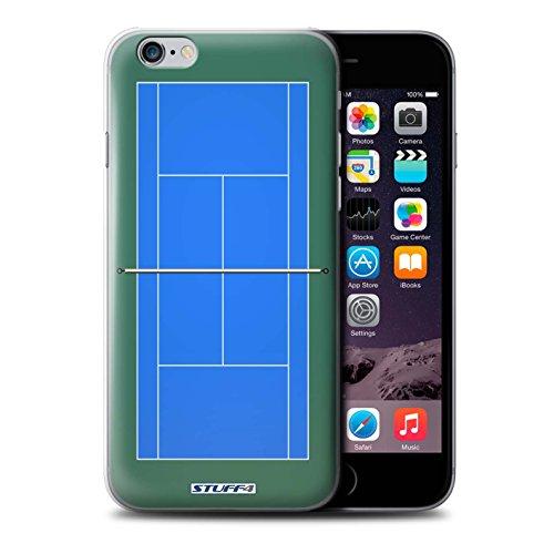 Coque de Stuff4 / Coque pour iPhone 6+/Plus 5.5 / Courts dur Blue Design / Courts de Tennis Collection