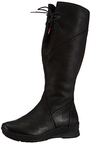Think Chiwi - botas de cuero mujer negro - negro