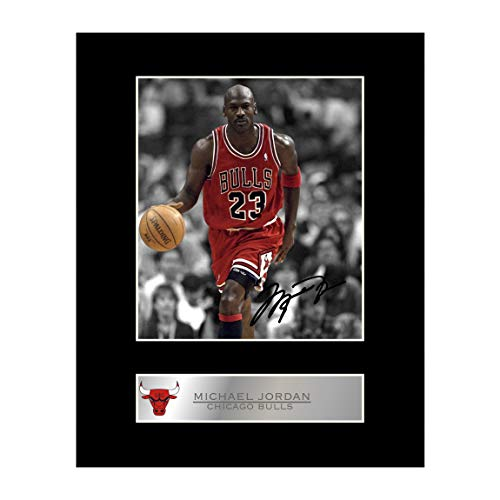 - iconic pic Michael Jordan Signed Mounted Photo Display Chicago Bulls #3 Autographed Gift Picture Print