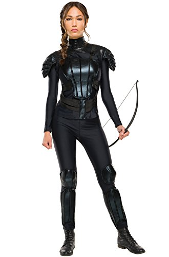 (Rubie's Women's The Hunger Games Deluxe Katniss Costume Rebel Mockingjay Part 1, As Shown, Extra)
