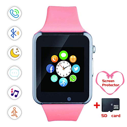 - Smartwatch, Bluetooth Smart Watch and Cell Phone Watch with Card SIot Bluetooth Call\Camera\Music Player Watch Compatible for Android and iOS Phones Women and Men