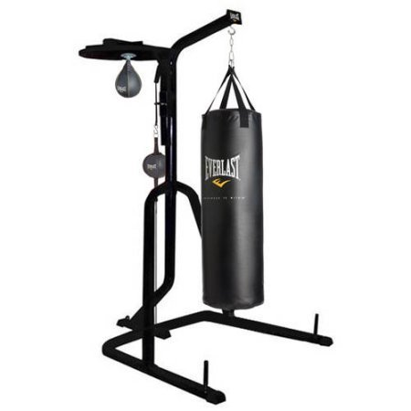 Three-Station Heavy Duty Punching Bag Stand by Everlast , 54.00 x 54.00 x 84.00 Inches by Three-Station