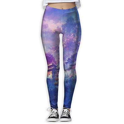 SHZFS Luc Dreamy Chinese Temple Lady Compression Yoga Pants Novelty Yoga - Anatomy Temples