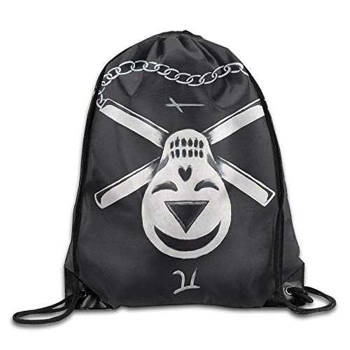 Yishuo Pack Beam Mouth Gym Sack Limited Edition Shoulder Bags for Men & Women - Nunchaku Patch