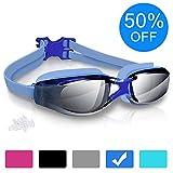 Swimming Goggles, Arteesol Anti Fog Swim Goggles Crystal Clear 180° Panoramic Vision Mirrored