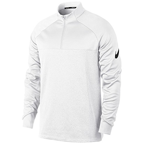 Nike Men's Therma Fit Top Half Zip Core Golf Pullover (White/White/Htr/Black, X-Large) (Mens Pullover Golf)