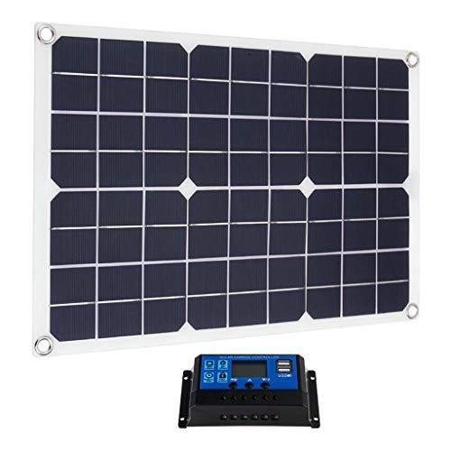 FLAMEER 20W Solarpanel Solarmodul Solarzelle Solar Ladegerät mit Solarregler für Auto Boot Wohnwagen