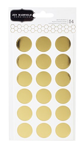 Pebbles Jen Hadfield Cottage Living Gold Circle Stickers