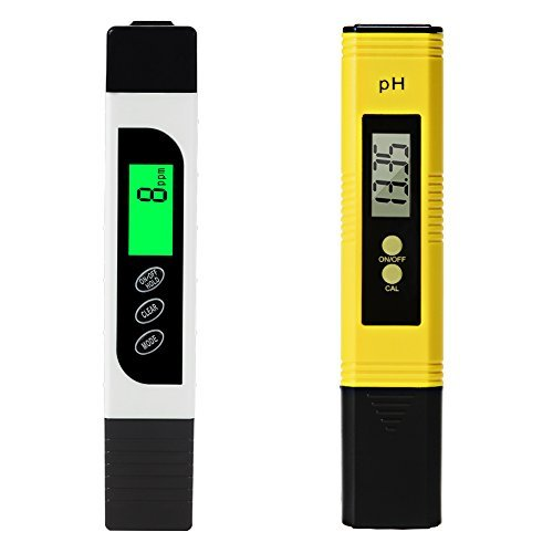 DYTesa Digital TDS Meter and PH Meter,Water Quality Tester with Auto Calibration Button,TDS PH EC Temperature 4 in 1 Set,Ideal for Household Drinking - Set Conductivity Meter Handheld