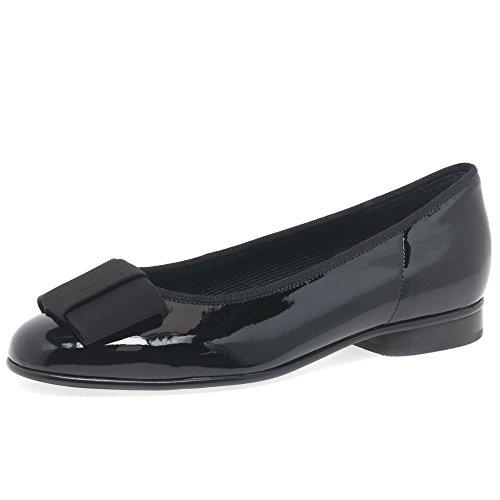 - Gabor Women's Women's Assist Patent Bow Trim Ballerina Pumps 4 C (M) UK/ 6 B(M) US Black Patent