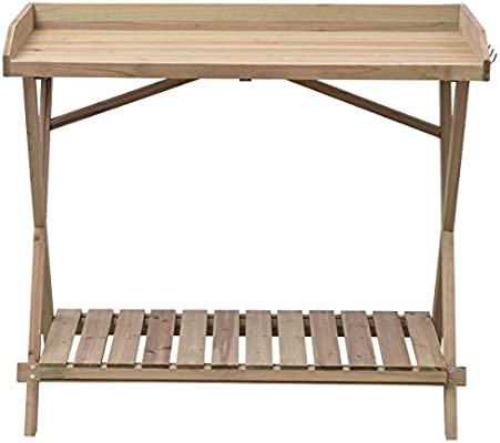 Amazon.com: Siamchoice24 - Banco de madera para jardín o ...