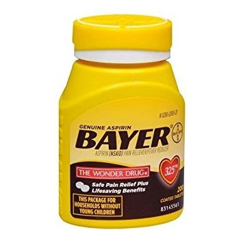 Bayer 325 mg Coated Tablets (200 Count)