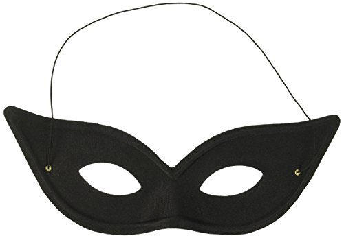Forum Novelties Masquerade Harlequin Cat Eye Half Mask for Women - Comfortable Halloween Half Eye Masquerade Mask for Girls - One Size Fits All - Black -