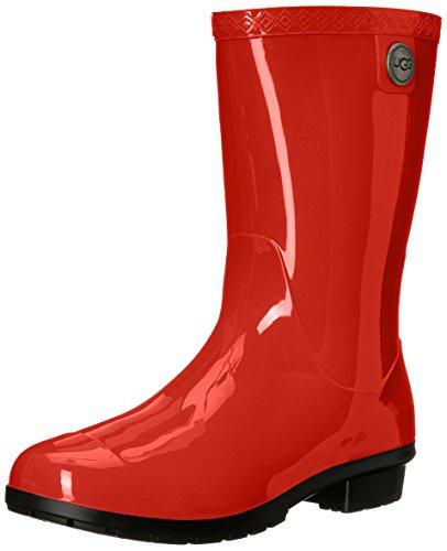 UGG Women's Sienna Rain Boot, Tango, 8 B US (Purple Woman Ugg Boots)