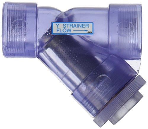 Hayward ys t inch threaded clear pvc y strainer