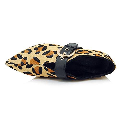 Pump Tacón Baile leopardprint Leopardo Mujer Zapatos Básico KJJDE Stiletto Plataforma WSXY Fiesta 11 Alta Sexy De Moda Puntiagudo ICA5OxqH