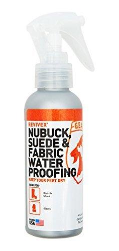 Gear Aid ReviveX Nubuck, Suede & Fabric Water Repellent Spray, 4 Ounce
