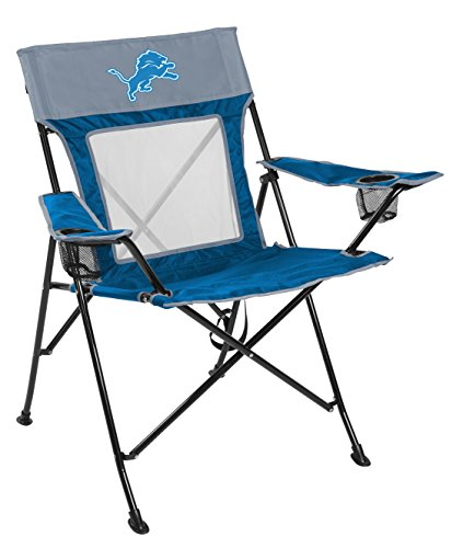 Rawlings NFL Game Changer Large Folding Tailgating and Camping Chair, with Carrying Case, Detroit Lions