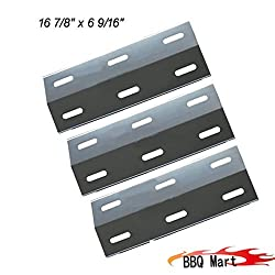 Vicool Hyj934a, 3-pack Stainless Steel Heat Plate Replacement For Ducane Gas Grill Models.