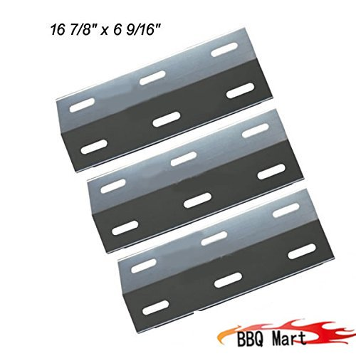New Vicool hy99341, 3-pack Stainless Steel Heat Plate Replacement for Ducane Gas Grill Models.