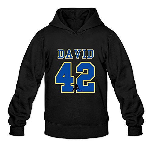 P-Jack Men's St. Louis David Number 42 Logo Gym Half Dome Hoodie SizeS ColorBlack