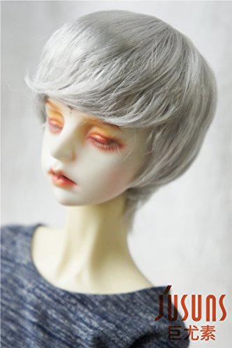 Jusuns D28053 8-9inch(21--23CM) SD Enfant short cut BJD wig 1/3 Synthetic mohair doll wigs Grey color (Wig Doll Mohair)