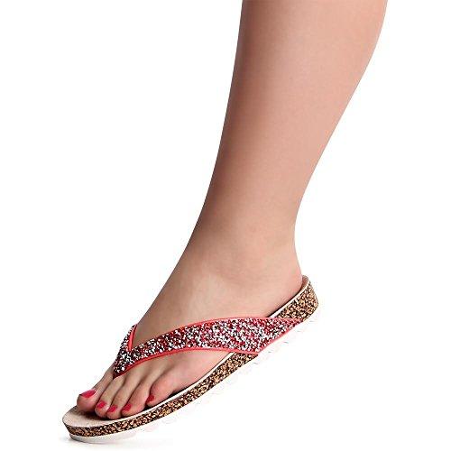 Pink Sandalettes topschuhe24 Femmes Femmes topschuhe24 Sandales SXXIUBzq