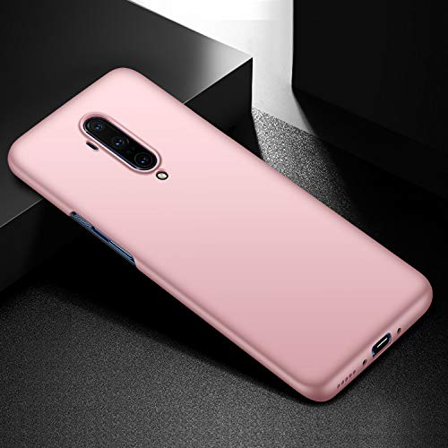 Yipmai Compatible with OnePlus 7T Pro Case, 0.03 Inch Ultra Thin Ultra Slim Hard PC Plastic Protective Case for OnePlus 7T Pro (Smooth Rose Gold)