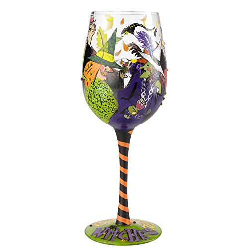 Lolita Halloween Wine Glasses (Enesco Lolita Wine Glass Cheers Witches, 9.05 Inches High     )