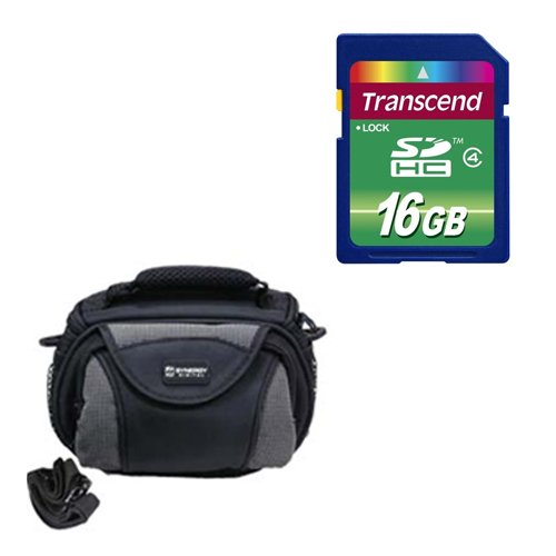 Panasonic HC-V750K Camcorder Accessory Kit includes: SD4/16GB Memory Card, SDC-26 Case by Synergy Digital