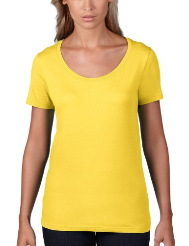 Anvil Manica Giallo corta Zest Donna Maglietta Lemon Yellow 5rgUP5nx