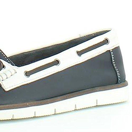 Heavenly Feet Heavenly Feet Brindle Navy Shoes - Mocasines de Piel para mujer azul marino