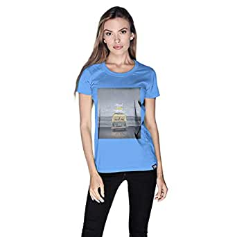 Creo Beach Van T-Shirt For Women - Xl, Blue