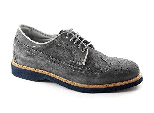 stilvolle Grigio Herrenschuhe Brogues 4971 grau GARDENS blau BLACK Sport UqcYZw8WO