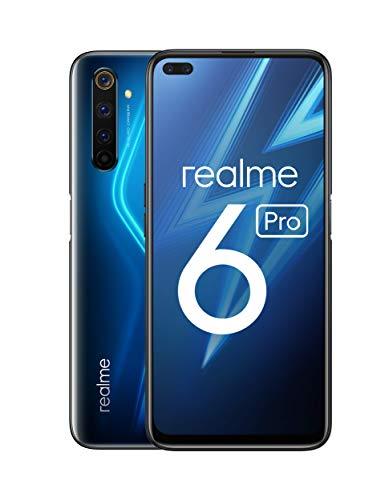 Realme 6 Pro 128GB/8GB Dual-SIM Lightning Blue [16,8cm (6,6″) IPS LCD Display, Android 10, 64MP Quad-Kamera]