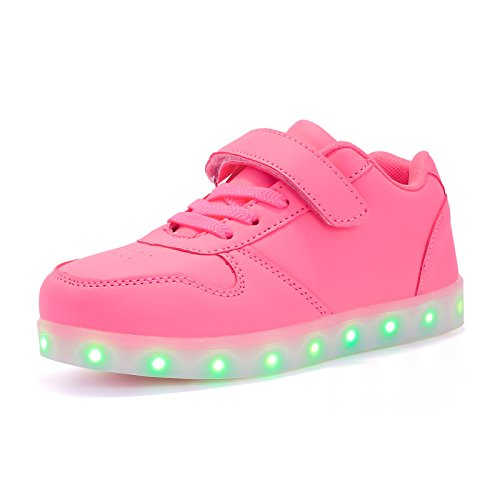 d716ebe63f63 KUULAND Kids/Boys/Girls Light Up Shoes LED Trainers Low-Top Flashing  Sneakers