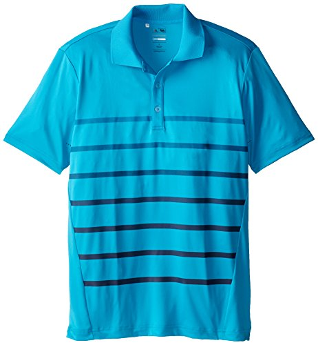 (adidas Golf Men's Puremotion Climacool Gradient Stripe Polo, Solar Blue/Midnight, Medium)