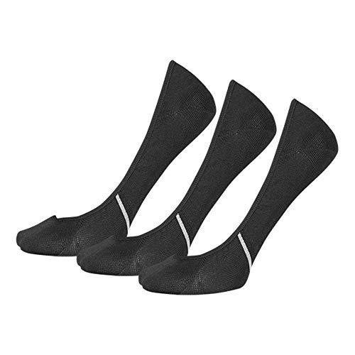 New Balance No Show Liner 3-Pair Black MD (Men's Shoe 7.5-9, Women's Shoe 6-10)