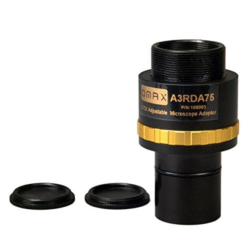 OMAX 0.75X Adjustable Reduction Lens for Microscope Camera by OMAX