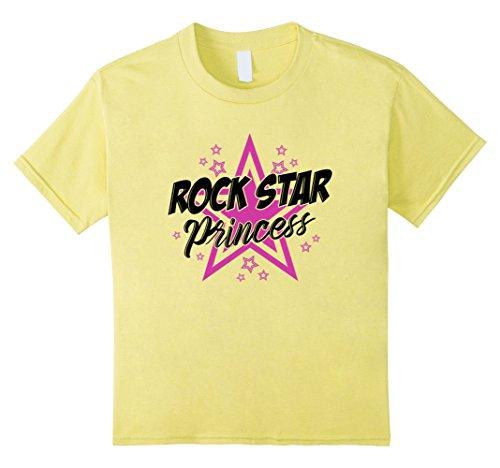 Kids Cute Rockstar Princess T-shirt Gift Music Sassy Cool Girl 4 (Rock Star Toddler Tee)