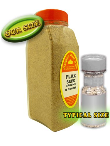 XL Size Marshalls Creek Spices Flax Seed Ground Seasoning, 16 Ounce