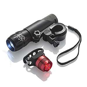 Set de Luces de Bicicletas – Las Mejores Luces Recargables para Bicicletas para Seguridad Vial – Manténgase Visible en la Carretera con los Accesorios de Bicicleta más Brillantes de KT Sports.
