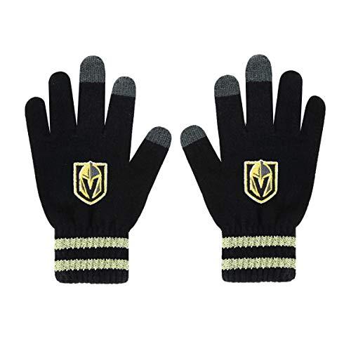 OTS NHL Vegas Golden Knights Men's Sportsman Touch Glove, Black, Men's