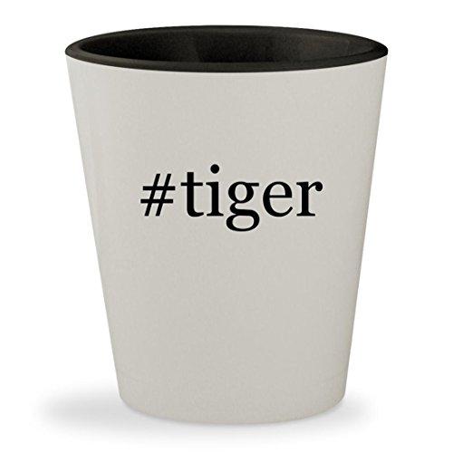 Price comparison product image #tiger - Hashtag White Outer & Black Inner Ceramic 1.5oz Shot Glass
