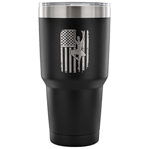 - Ballet Dancer Ballerina USA Flag 30oz Tumbler Cup, Gift,Stainless steel cup, Metal cup, Vacuum Travel Mug, Water bottle